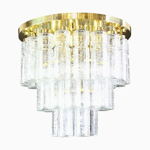 Large German Glass Ceiling Lamp from Limburg, 1960s