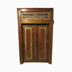 Antique Carved Teak Double Doors, 1900