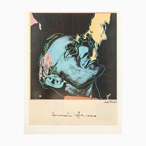 Hermann Hesse Poster von Andy Warhol, 1980er