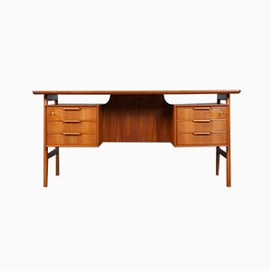Mid-Century Teak Model 75 Desk from Omann Jun, 1960s