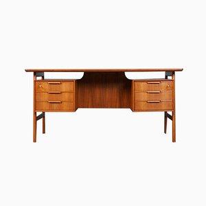 Mid-Century Teak Modell 75 Schreibtisch von Omann Jun, 1960er