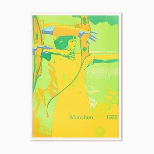 Bogenschießen Poster von Otl Aicher, 1970er