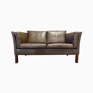 Scandinavian Leather Sofa, 1970s