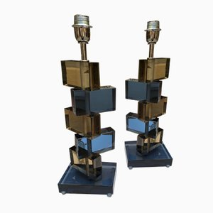 Murano Glass Table Lamps by Alberto Donà, 1980s, Set of 2
