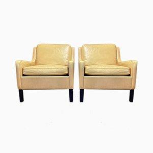 Scandinavian Leather Lounge Chair, 1960s