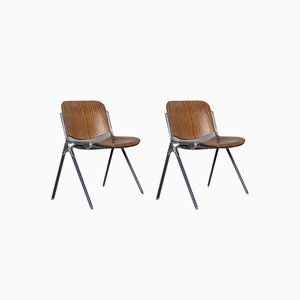 Italienischer Vintage Beistellstuhl, 1960er, 2er Set