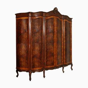 Armadio barocco veneziano in legno di noce intagliato di Testolini & Salviati, anni '20