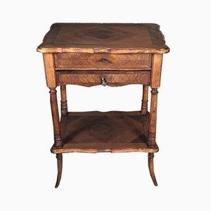 Louis Philippe Walnut Veneer Side Table
