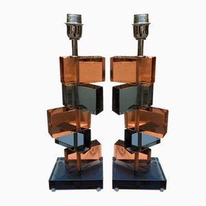 Murano Glas Tischlampen von Alberto Donà, 1980er, 4er Set