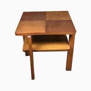 Oak & Oak Veneer Side Table, 1950s