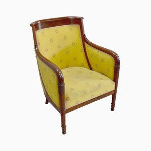 Empire Period Mahogany Bergere Gondola Chair, Early 1800s