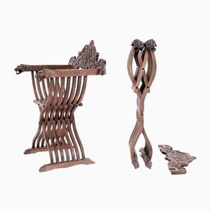 Savonarola Style Folding Chairs, 19th Century, Set of 2