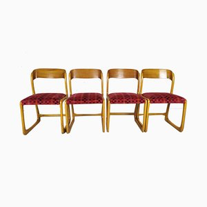 Traineau / Sleigh Dining Chairs from Baumann, 1960s, Set of 4
