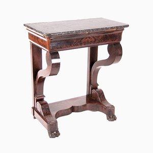 Empire Style Mahogany Console Table, 1860s