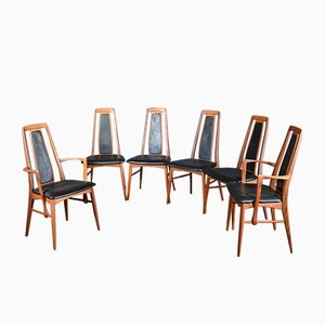 Eva Dining Chairs by Niels Koefoed for Koefoeds Møbelfabrik, 1960s, Set of 6