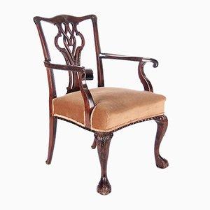 Antiker Armlehnstuhl im Chippendale Stil, 19. Jahrhundert