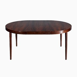 Mid-Century Danish Extendable Round Rosewood Dining Table by Niels Otto Møller for Gudme Mobelfabrik, 1960s