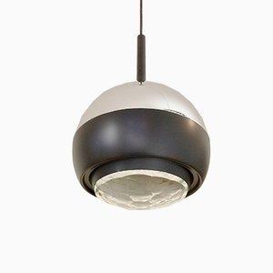 Italian Glass & Metal 1230 Pendant Lamp from Stilnovo, 1960s