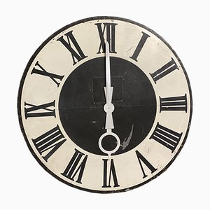 Cara de torre del reloj francesa antigua grande