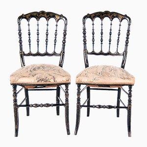 Antique Napoleon III Side Chairs, Set of 2