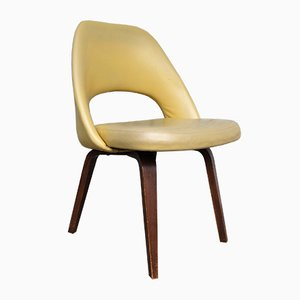 Mid-Century 71 Executive Chair with Wooden Legs by Eero Saarinen for Knoll Inc. / Knoll International