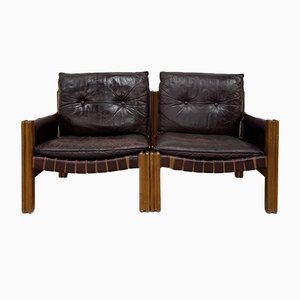 Vintage Leather Sofa from TON