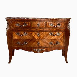 Antique French Louis XV Parquetry Chest of Drawers