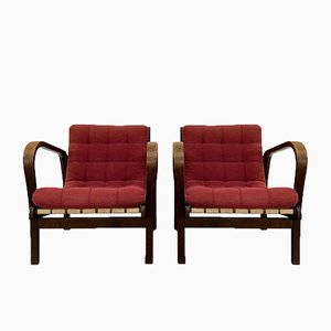 Mid-Century Armchairs by Karel Kozelka & Antonin Kropacek for Interier Praha, Set of 2