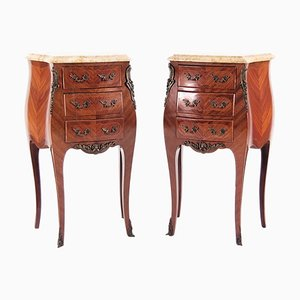 Louis XIV Style Rosewood Side Tables, 1950s, Set of 2