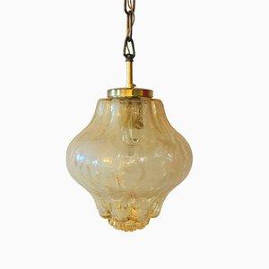 Deutsche Deckenlampe aus Sideglas von Limburg, 1960er