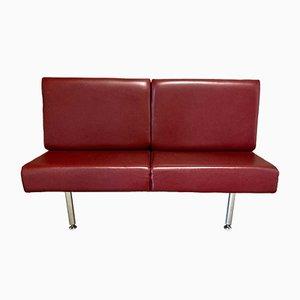 Scandinavian Leather & Metal Suspended Sofa, 1970s