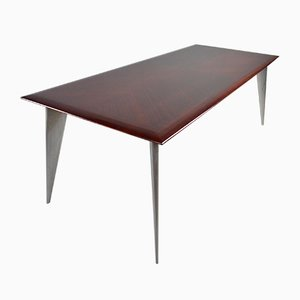 African Mahogany M Dining Table by Philippe Starck for Aleph / Driade, 1990s