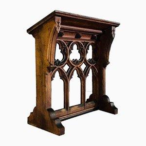 Antikes Gotisches Rednerpult aus Eiche