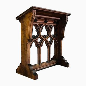 Antique Gothic Solid Oak Lectern