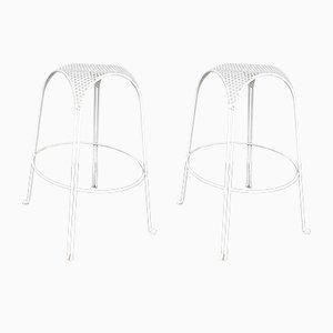 Italian Perforated Metal Barstools by Maurizio Tempestini, 1950s, Set of 2