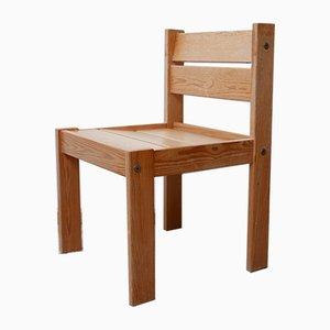 Swedish Pine Dining Chairs, 1970s, Set of 4