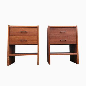 Vintage Danish Teak Nightstands, 1970s, Set of 2