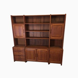 Danish Teak Wall Unit, 1970s