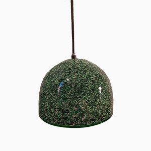Lampada Neverrino in vetro maculato verde e nero di Gae Aulenti per Vistosi, anni '70