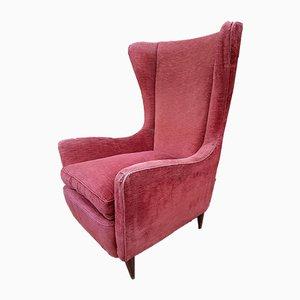 Sessel mit Hoher Rückenlehne und Holzkonischen Beinen von Gio Ponti, 1950er