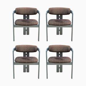 Mid-Century Modern Pamplona Armlehnstühle von Augusto Savini für Pozzi, 1970er, 6er Set
