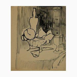 Mino Maccari - Still Life - Tusche & Aquarell - 1955