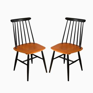 Fanett Dining Chairs by Ilmari Tapiovaara for Edsby Verken, 1950s, Set of 2