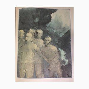 Giacomo Manzu - The Odyssey of Homer - Illustrated Book - 1977