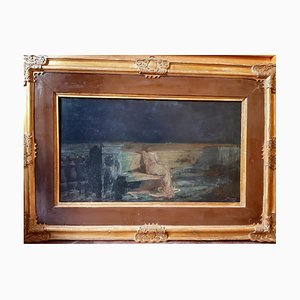 Gaetano Previati - Study for Chiaro di Luna - Oil Paint - 1894