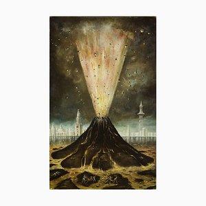 Stanislao Lepri - The Volcano - Original Ölgemälde - 1968