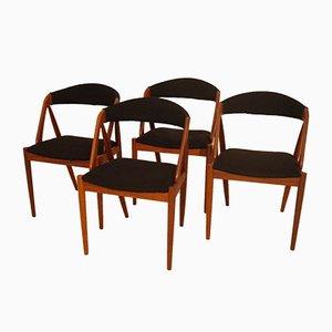 Scandinavian Chairs by Kai Kristiansen, 1960s, Set of 4