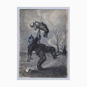 Gabriele Galantara - Österreichischer Soldat - China Tuschezeichnung - 1905