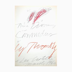 Cy Twombly - Neuf Discours On Commodus - Lithographie - 1964