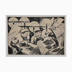 Gabriele Galantara - Berline Taglebatt - China Ink - Early 1930s